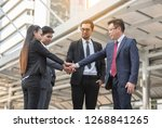 businessmen are confident. | Shutterstock . vector #1268841265
