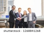 businessmen are confident. | Shutterstock . vector #1268841268