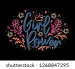 girl power. motivation... | Shutterstock . vector #1268847295