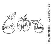 apple  pear  plum   one...   Shutterstock .eps vector #1268847418