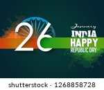 republic day celebration  26... | Shutterstock .eps vector #1268858728