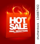 fiery hot sale design with... | Shutterstock .eps vector #126887432