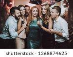 duet. karaoke club. celebration....   Shutterstock . vector #1268874625