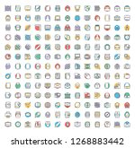 education related colored icons ...   Shutterstock .eps vector #1268883442