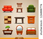 furniture icons set 1 | Shutterstock .eps vector #126888776
