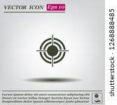 target vector icon | Shutterstock .eps vector #1268888485