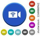 wireless camera round color... | Shutterstock .eps vector #1268888962