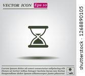 hourglass  vector illustration. | Shutterstock .eps vector #1268890105
