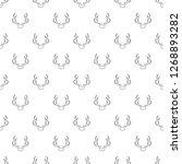 deer antler icon. outline... | Shutterstock . vector #1268893282