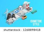 energy factory clip art.... | Shutterstock . vector #1268898418
