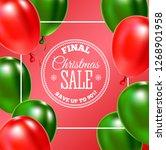 christmas sale banner. vector... | Shutterstock .eps vector #1268901958