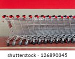 Row Of Shopping Trolleys Or...