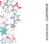 wavy christmas colorful stars... | Shutterstock .eps vector #1268908648