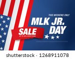 martin luther king day sale... | Shutterstock .eps vector #1268911078