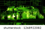 3d render complex abstract... | Shutterstock . vector #1268922082