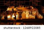 3d render complex abstract... | Shutterstock . vector #1268922085