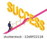 road to success. business... | Shutterstock .eps vector #1268922118