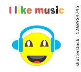 i like music fashion slogan... | Shutterstock .eps vector #1268934745