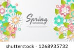 spring background with... | Shutterstock .eps vector #1268935732