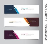 vector abstract web banner... | Shutterstock .eps vector #1268944702