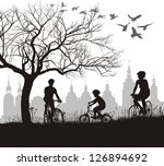 vector illustration of family... | Shutterstock .eps vector #126894692