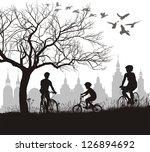 vector illustration of family... | Shutterstock .eps vector #126894692