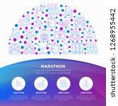 marathon concept in half circle ... | Shutterstock .eps vector #1268955442