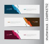 vector abstract web banner... | Shutterstock .eps vector #1268963752