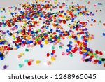many little beads  perler beads ... | Shutterstock . vector #1268965045