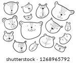 cute bears set.. teddy bear in... | Shutterstock .eps vector #1268965792