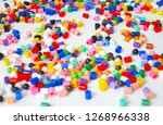 many little beads  perler beads ... | Shutterstock . vector #1268966338
