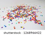 many little beads  perler beads ... | Shutterstock . vector #1268966422