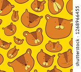 cute bears seamless pattern..... | Shutterstock .eps vector #1268966455