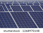 solar photovoltaic panels and... | Shutterstock . vector #1268970148