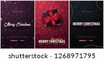 merry christmas and happy new... | Shutterstock . vector #1268971795