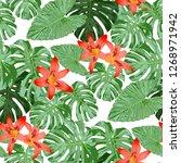 australian flowers. seamless... | Shutterstock .eps vector #1268971942