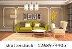 interior of the living room. 3d ... | Shutterstock . vector #1268974405