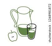 set of dishes vector sketch...   Shutterstock .eps vector #1268981872