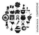 almanac icons set. simple set...