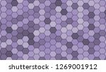 Hexagonal Grid Pattern With...