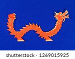 Diy Chinese Dragon On Blue...