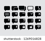 message icon set   Shutterstock .eps vector #1269016828