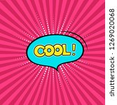 speech bubble cool  on the rays ... | Shutterstock .eps vector #1269020068
