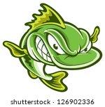 largemouth bass   Shutterstock .eps vector #126902336