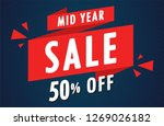 sale poster vector. sale... | Shutterstock .eps vector #1269026182