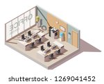 office room with cubicle... | Shutterstock .eps vector #1269041452