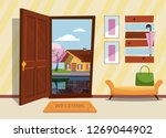 the interior hallway with the... | Shutterstock .eps vector #1269044902