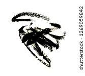 abstract black blotch paint | Shutterstock . vector #1269059842
