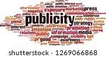 publicity word cloud concept.... | Shutterstock .eps vector #1269066868