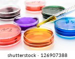 pipette with drop of color... | Shutterstock . vector #126907388